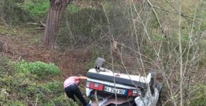 Bartın'da Kontrolden Çıkan Araç Takla Attı: 1 Yaralı