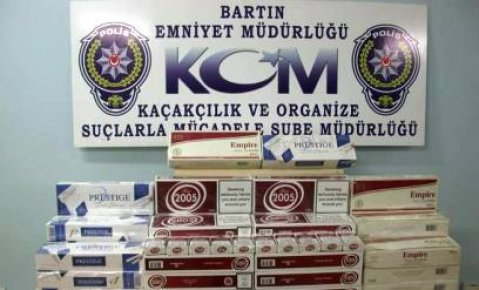 1150 Paket kaçak Sigara