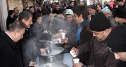 1500 kişiye sahlep ikram edildi