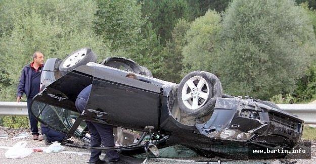 Otomobil Takla Attı: 4 Yaralı