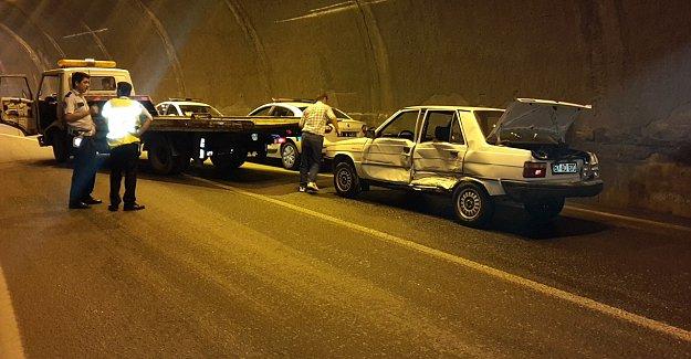 Tünelde Kaza: 1 Yaralı