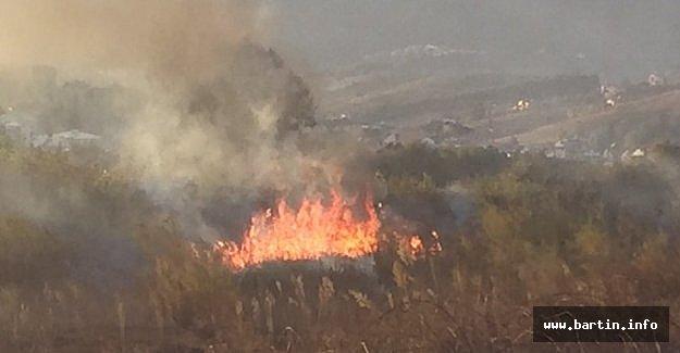 Arazi Yangını Korkuttu