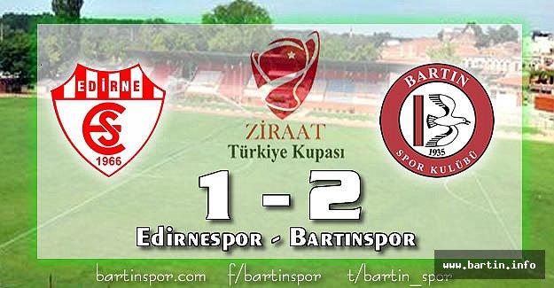 Bartınspor'dan Muhteşem Galibiyet: 1-2