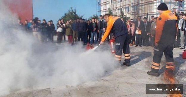 Defterdarlık Personeline Yangın Eğitimi