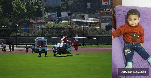 Hava Ambulansı İle Hastaneye Kaldırılan Çocuk Kurtarılamadı