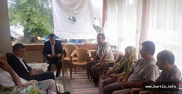 Kaymakam Irak'ta Kaçırılan İşçinin Ailesini Ziyaret Etti