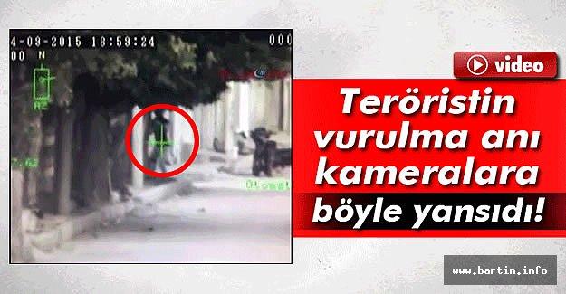Teröristin Vurulma Anı Polis Kamerasında