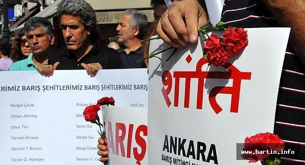 Bartın'da, Ankara'daki katliamda ölenler anıldı