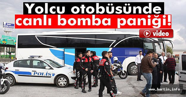 Otobüste canlı bomba paniği - VİDEO