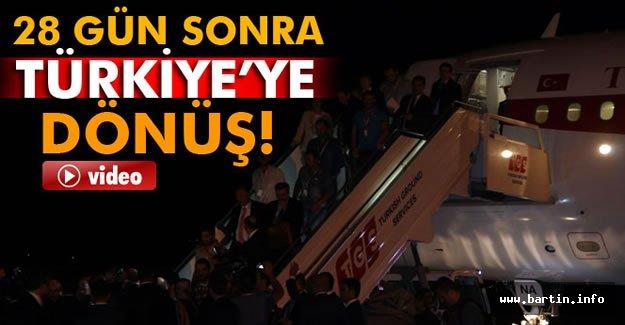 Serbest bırakılan 16 Türk işçi Ankara'da