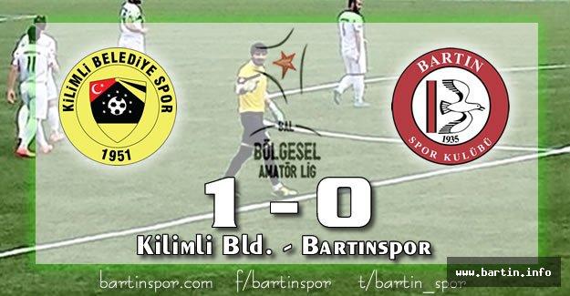 Bartınspor Zonguldak'ta Kayıp: 1-0