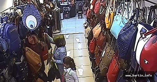 Çanta Hırsızı Güvenlik Kamerasında
