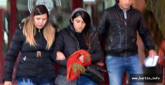 Üniversiteli kız, örgüt üyesi olduğu iddiasıyla tutuklandı