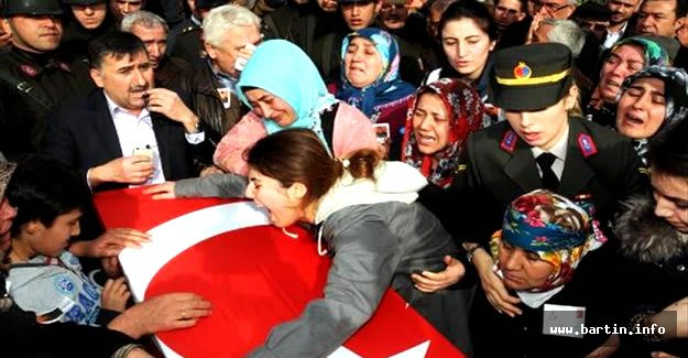 Zonguldaklı Şehidi 5 Bin Kişi Uğurladı