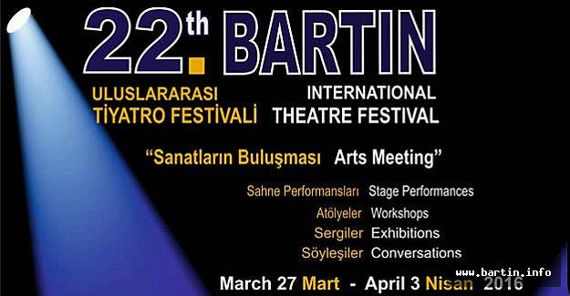 22. Bartın Tiyatro Festivali Başlıyor