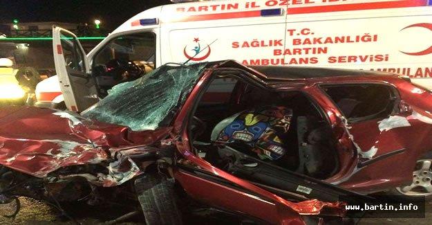 Bartın'da Feci Kaza: 3 Yaralı