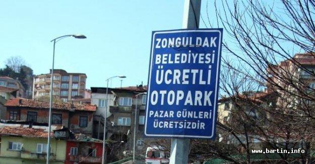 Belediye otoparkında sürücülere park cezası