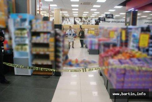 Markette iş arkadaşını vurdu