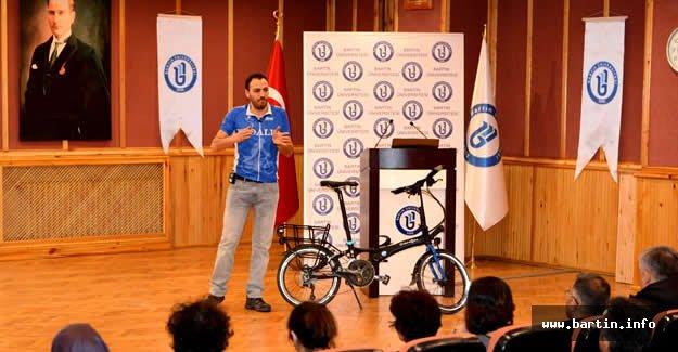 Türkiye'yi Pedalladı, Bartın Üniversitesi'nde Anlattı