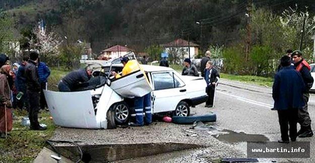 Ulus'ta Kaza: 4 Yaralı