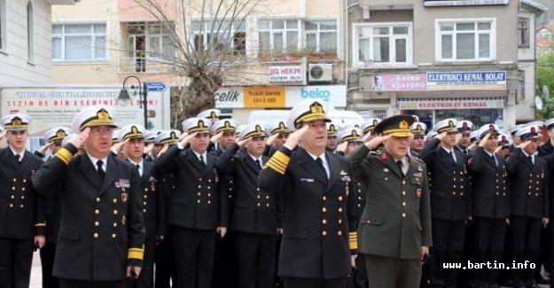 Donanma Komutanı Oramiral Kösele, İnebolu'da