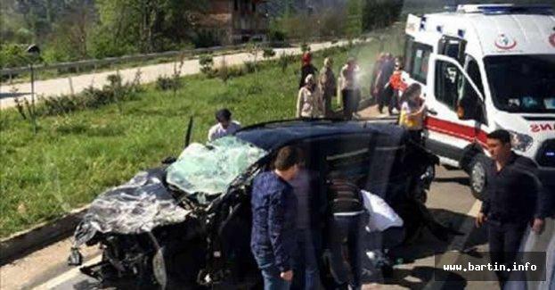 Kontrolden çıkarak takla atan otomobilde 2 yaralı