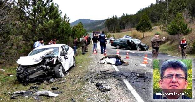 Muhtar, hasta ziyaretine giderken kazada öldü