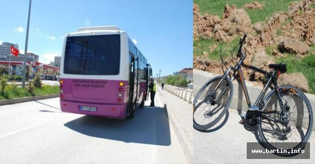 Bisikletle otobüse çarpan 2 üniversite öğrencisi yaralandı