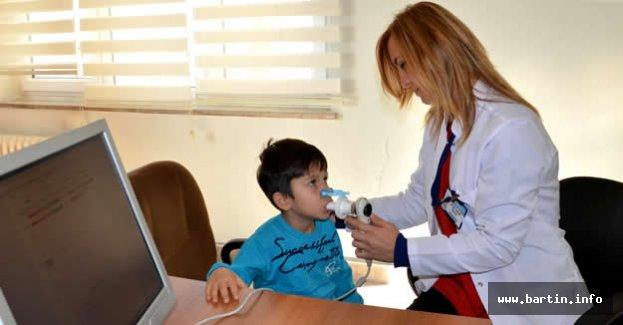 Çocuk Hastalara Solunum Fonksiyon Testi Başladı