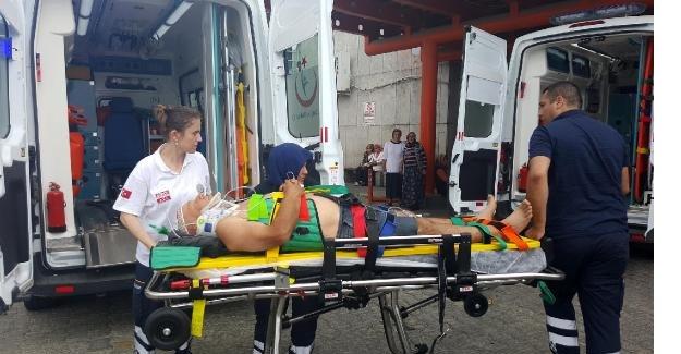 Depo inşaatından düşen işçi yaralandı