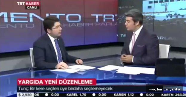 Tunç TRT Haber'de Yeni Yargı Paketini Anlattı