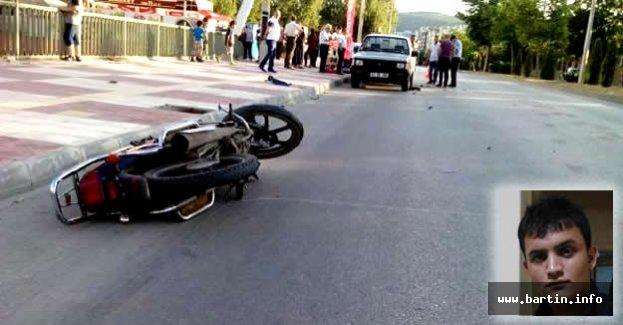 Bir gün önce aldığı motosikletiyle kaza yapan genç öldü