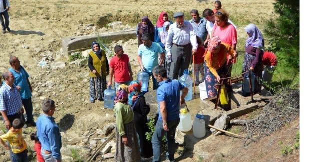 Su ihtiyaçlarını kuyudan sağlıyorlar