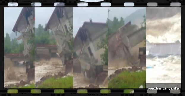 3 Katlı Ev Sel Sularına Kapıldı - VİDEO