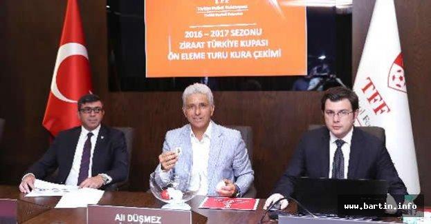 İşte Bartınspor'un Türkiye Kupası'ndaki Rakibi