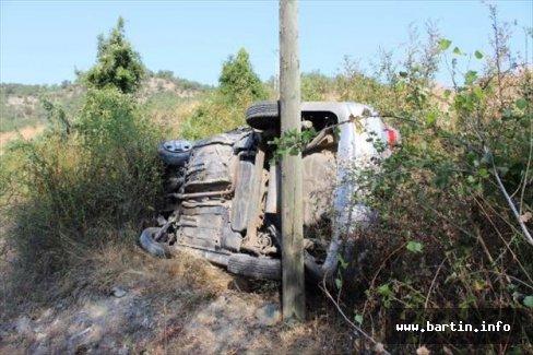 Şarampole yuvarlanan araçta 1 Ölü, 5 Yaralı