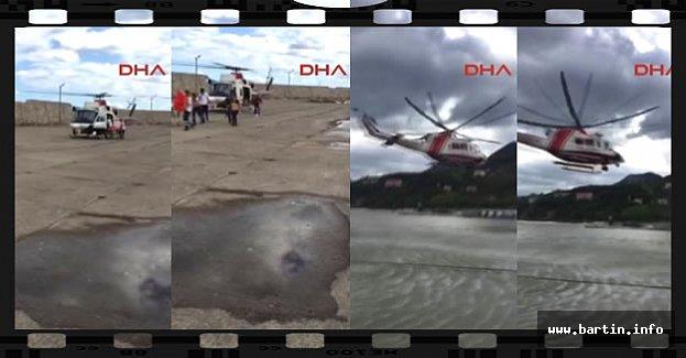 Selde Helikopterle Hasta Kurtarma Operasyonu