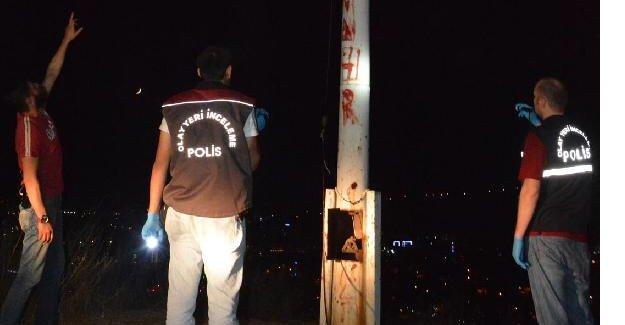 Türk bayrağı kimliği belirsiz kişilerce gönderden indirildi