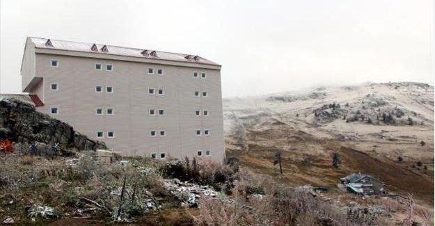 Kartalkaya'da ilk kar