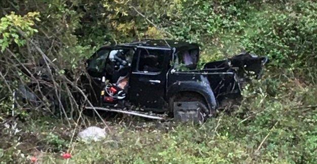Şarampole yuvarlanan kamyonetin sürücüsü öldü