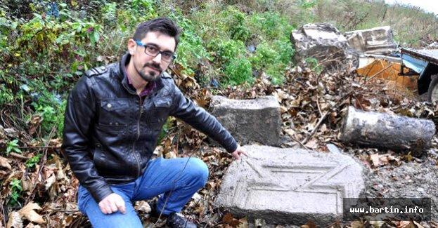 Moloz dökülen alanda tarihi kalıntılar bulundu