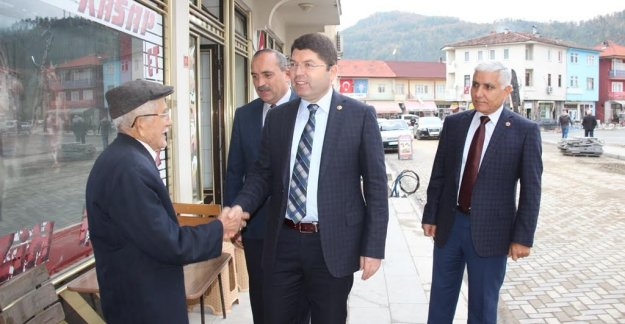 Tunç'tan Ulus'ta Esnaf Ziyareti