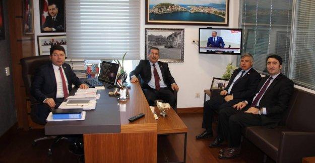 Tunç'a Kaymakam ve Başkanlardan TBMM'de ziyaret