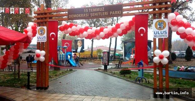Ulus'ta 15 Temmuz Demokrasi Şehitleri Parkı Açıldı