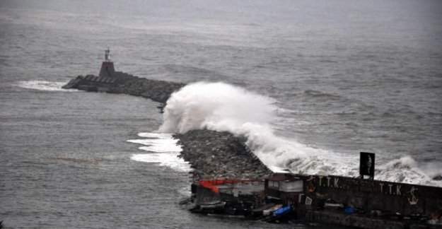 7 metreyi aşan dalgalar limana girdi