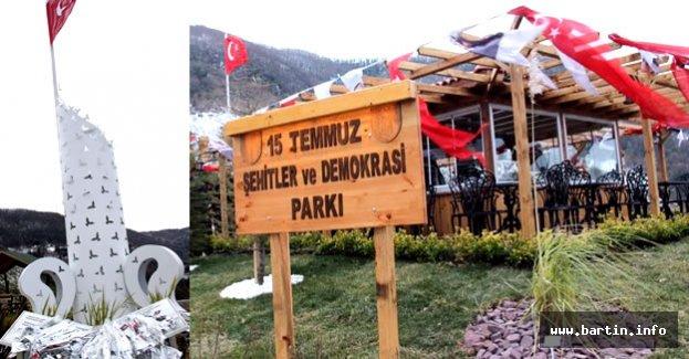Amasra 15 Temmuz Parkı Açıldı