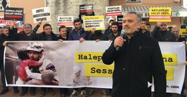 Bartın'da Halep Protestosu