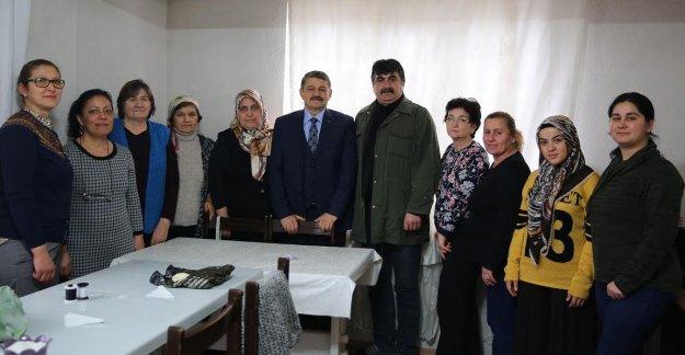 Başkan'dan Kursiyerlere Ziyaret