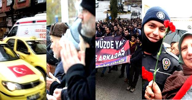 Zonguldak, Karabük, Kastamonu ve Bolu'da Teröre Tepki