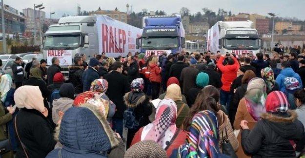 Halep'e 3 TIR yardım